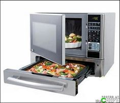 the perfect 1.1 cubic ft countertop microwave oven by LG with 'pizza' (baking) drawer $220 @ HD