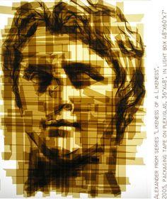 Brown tape art by Mark Khaisman