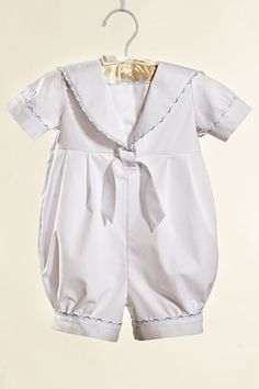 Baptism / christening baby boy cotton outfit sailor by Graccia