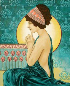art nouveau women | ... nude - female portrait art nouveau, Page 3767, Contemporary Art