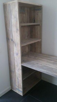 Bureau/ortnerkast van steigerhout