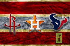 Houston Texans Sports Poster, Houston TEXANS, Houston ASTROS, Houston Rockets Artwork, Houston Teams in front of Houston Skyline, Texans Astros Rockets Gift NFL
