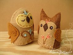 Pretty felt owls. Twit twoo.