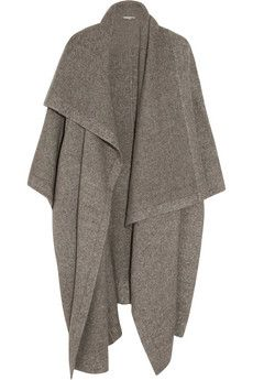Stella McCartney Draped knitted blanket coat   THE OUTNET