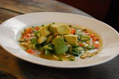Loaded Chick and Veg Soup -  used kale instead of bok choy - love the add your own spiciness!!