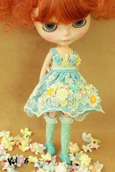 Blythe Blu Flower dress