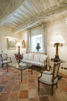 Absolutely love the huge variation of colors in these antique terra cotta tiles. Domaine Laurentine  Provence Villa Rental