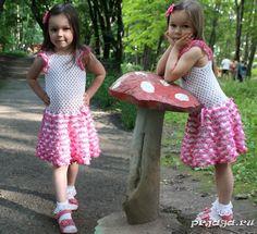 Летний сарафан для девочки крючком