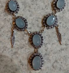 Chalcedony Necklace and Earring Set by KarinsForgottenTreas on Etsy