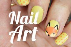 Uñas de zorro | Nail art  de animales paso a paso