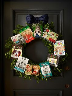 Create a holiday wreath for the home made of special holiday cards. Get crafty with Shutterfly designs.