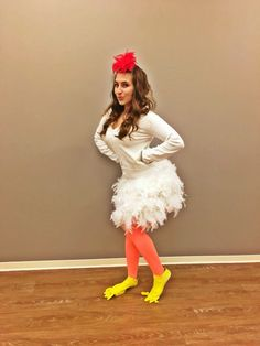diy chicken halloween costume to halloween pinterest halloween costumes halloween and. Black Bedroom Furniture Sets. Home Design Ideas