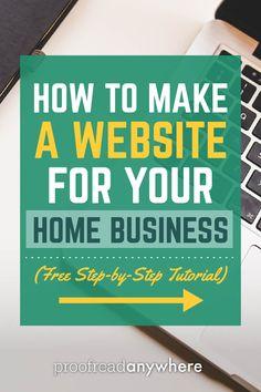 [FREE TUTORIAL] Home business website setup guide! via @#