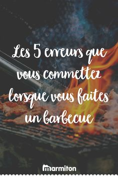 Découvrez les 5 erreurs à ne plus commettre lorsque vous ferez un barbecue cet été ! #recettemarmiton #marmiton #recette #recettefacile #recetterapide #faitmaison #cuisine #ideesrecettes #inspiration #astuce #barbecue Bbq, 20 Minutes, Barbecues, Inspiration, Table, Cooking, Cooking Recipes, Skewers, Barbecue