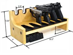 Quality Rotary Gun Racks, quality Pistol Racks - 6 Gun Pistol Rack w/Magazine Storage
