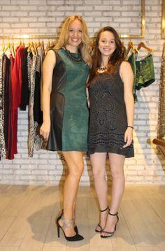 Edi Rossano, dona da marca, com a filha Gabi Rossano