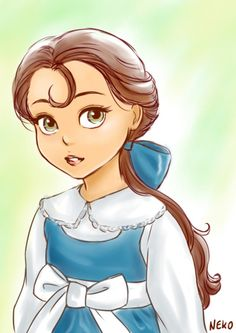 Beauty and the Beast  I'm currently writing a fanfic with Belle and Adam's (Beast) children. This is EXACTLY how I imagine Denise their 9 year old daughter in my fic looks like.
