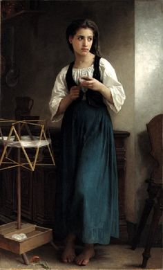 William Bouguereau - La Dévideuse (1877)