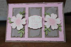 Karte entstanden mit Produkten von Stampin' Up!.  Blumenstempel jeder Art finde ich toll zum gestalten von Karten.