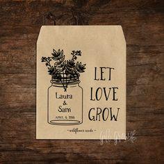 Black Mason Jar & Floral Wedding Seed Packets Rustic Wedding Favors, Woodland Wedding, Burlap Bags, Seed Packets, Lorraine, Floral Wedding, Mason Jars, Seeds, Black