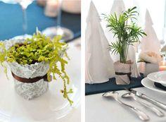 Make tiny tabletop planters.