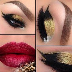 Gorgeous #Saturday Night #makeup #eyeshadow #lipstick