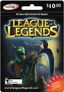 Riot Point Game Card with Fiddlesticks  League of Legends game art. Win one in thee free monthly RP giveaway from http://www.free-riot-points.com/