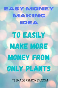No matter where you are in the world, there's always going to be ways to make money. Even the littlest of things have the potential to make thousands. This article goes over the different ways that anyone can make money with plants. #workfromhome #jobs #locationindependent #makemoneyathome #makemoneyonline #sidehustle #workfromhomejobs #workathome #onlinejobs #sidehustles #extracashideas