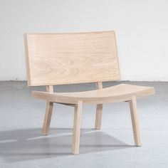 Sorri lounge chair | Producer: Wewood - Sorri is a friendly chair, ingenious, wide and inviting. This chair perfectly marries a simple and pleasant shape, with an efficient and optimized production - Gonçalo Campos Studio