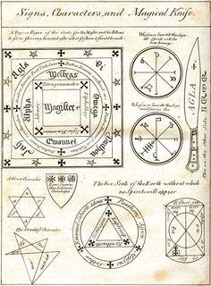 Sigils & Symbols:  Signs, Characters, and Magickal Knife.