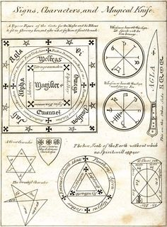 Sigils & Symbols:  Signs, Characters, and Magickal Knife.