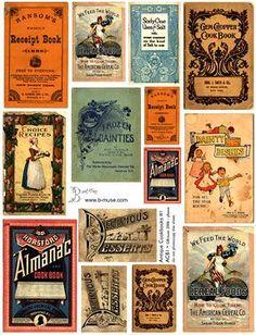 Laminas decoupage: Etiquetas para botes, tarros, latas, cajas.etiquetas para regalos..jabones...