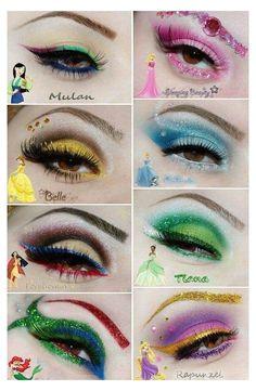 Disney Eye Makeup, Disney Inspired Makeup, Belle Makeup, Disney Princess Makeup, Disney Character Makeup, Tinkerbell Makeup, Disney Villains Makeup, Cinderella Makeup, Ariel Makeup