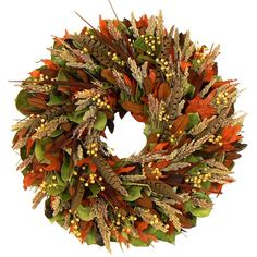 "I pinned this 18"" Preserved Fall Delight Wreath from the Floral Treasure event at Joss and Main!"