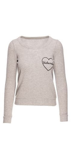 Chaser Weekend Love Love Knit Triangle Open Back Long Sleeve Pullover in Misty / Manage Products / Catalog / Magento Admin