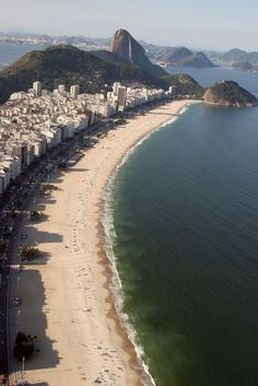 1000 places to go before i die: Copacabana Beach, Rio De Janeiro, Brazil Places Around The World, Oh The Places You'll Go, Places To Travel, Places To Visit, Around The Worlds, Copacabana Beach, Dream Vacations, Vacation Spots, Brazil Vacation