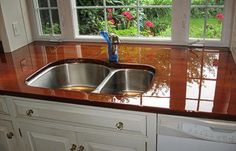 Protecting Wooden Countertop In The Bathroom Seal With
