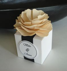 25 Paper Flower Favor Box for Wedding or Any by sweetpartybliss, $72.50