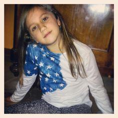 America tshirt bambina handmade