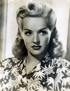 Betty Grable, 1940s I love her hair due.