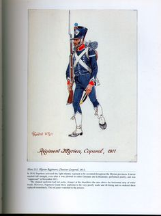 Foreign Troops: Plate 112: Illyrian Regiment, Chasseur Corporal, 1811.