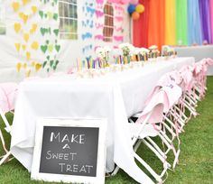 Rainbow Heart-themed Kids Party