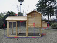 chicken coop-If I ever decided to get some chickens this would be awesome.