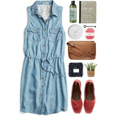 Denim by vera-ush on Polyvore featuring polyvore, moda, style, maurices, Castañer, Dorothy Perkins, The Body Shop, Pelle and Georg Jensen