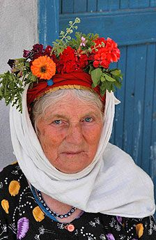 Old Turkish women in village. Loving her style.