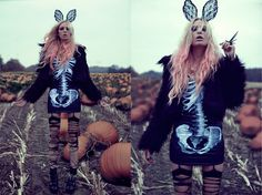 Socks, Gina Tricot Fake Fur Jacket, Tally Waijl Bunny Ears, Black Milk Clothing Dress, Boots, Jfr.Se Ring
