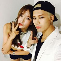 Hani from exid and Jackson from got7
