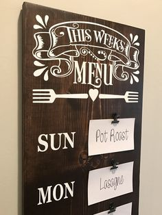 A personal favorite from my Etsy shop https://www.etsy.com/listing/520382775/farmhouse-decor-menu-board-meal-planning