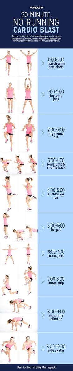 20-Minute, No-Running Cardio Blast