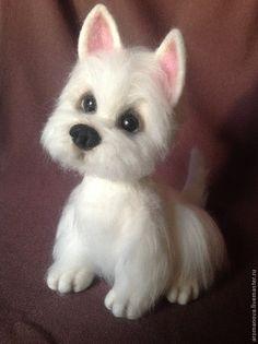 вест хайленд уайт терьер - малышка Бетси - белый,щенок,собака игрушка